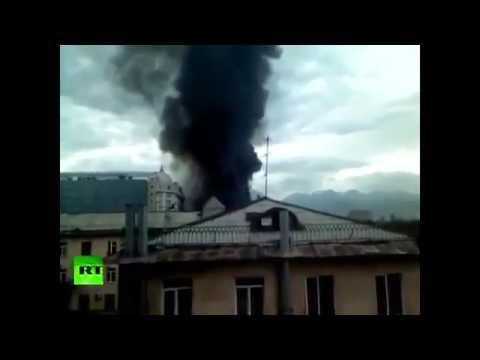 Kazakhstan MASSIVE EXPLOSION  gas tanker caused  HUGE FIRE