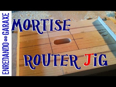 How to make a mortise router jig easy and simple