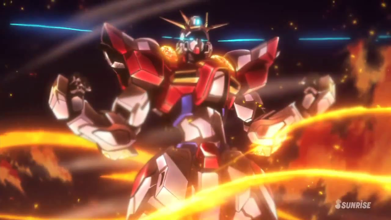 Gundam build fighters try episode 1 review build burning for Domon gundam build fighters try