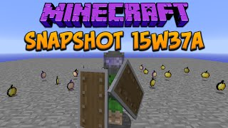 Minecraft 1.9 Snapshot 15w37a New Biome & Golden Apples Nerfed