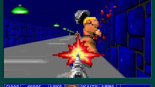 Wolfenstein 3D, E4M2, No damage, Hard, Pistol start, No saves, Sub-par time