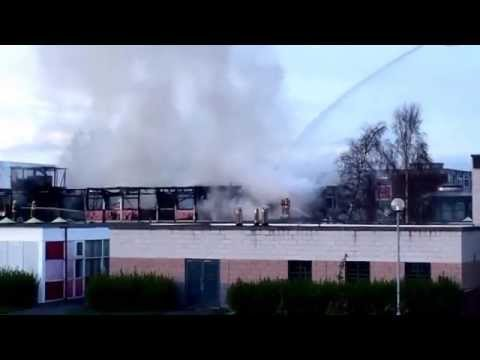 Shiney Row College on fire video 3 - YouTube SMB