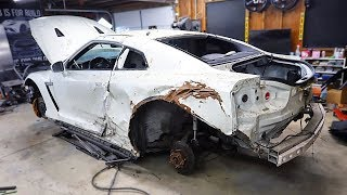 Tearing down my Salvaged GT-R to find all the DAMAGE