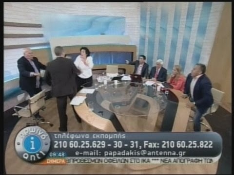 Greece: Golden Dawn politician lashes out on live TV