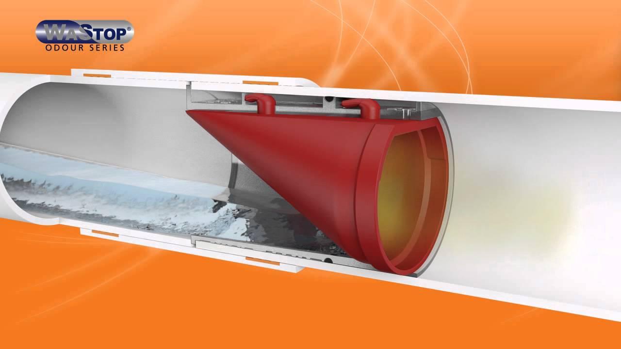 WaStop Odour Series. Membrane sink trap. - YouTube