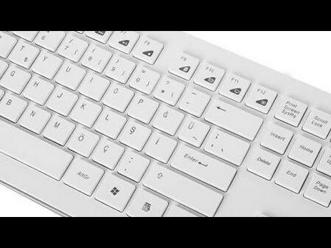 Beyaz klavye Everest KM-6063 kablosuz Set