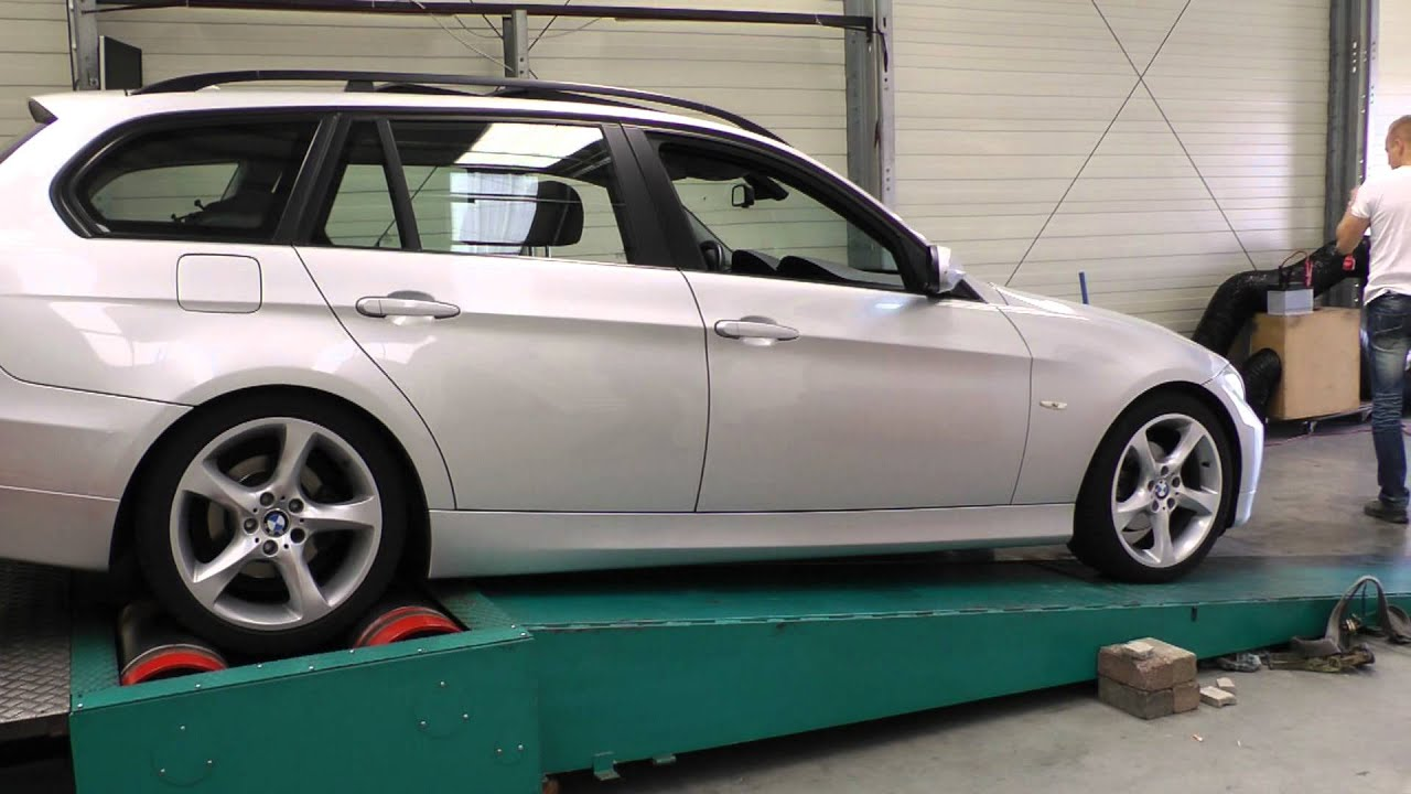 bmw 320d e91 tuning factory dynorun movie 1 of 3 youtube. Black Bedroom Furniture Sets. Home Design Ideas