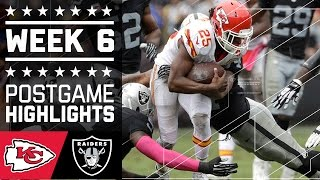 Chiefs vs Raiders | NFL Week 6 Game Highlights