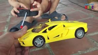 Bé chơi oto cảnh sát đồ chơi trẻ em ❤️ police car for kids cartoon fun