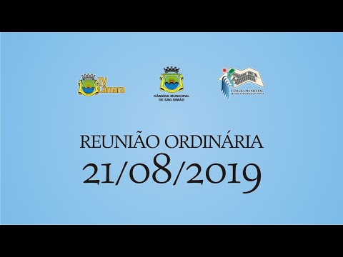 REUNIAO ORDINARIA 21/08/2019