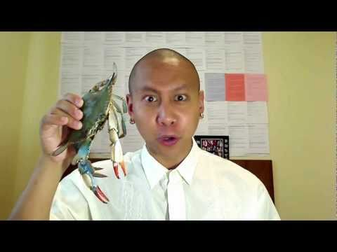 Filipino Crab Eating Tutorial by Mikey Bustos
