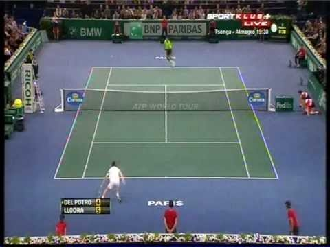 Juan Martin Del Potro vs Michael Llodra - ATP Masters Paris 2012. Highlights (bojan svitac)