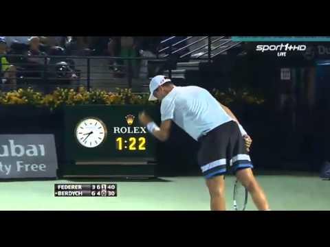Roger Federer vs Tomas Berdych ATP Dubai 2014 Final 3rd set