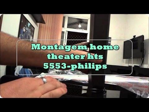 Home Theater Philips HTS 5553 - Montagem e Instalação