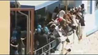 Xerada Lampedusa Oo Tahriibayaal ka soo daadanayaan