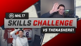 NHL 17 SKILLS CHALLENGE vs NASHER!