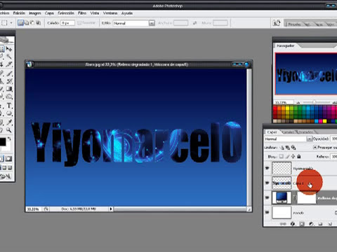 Photoshop: Letra con Imágen / Image with Letter- YiyoMarcelo