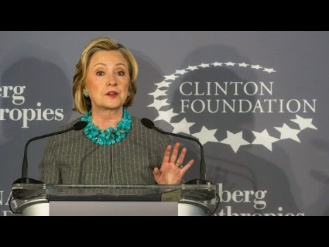 Clinton faces questions about foundation funds