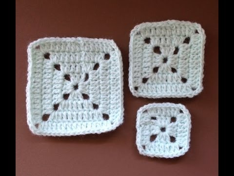 CROCHET ALONG - Simple Granny Square (VIDEO TUTORIAL) - YouTube