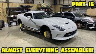 Rebuilding a Wrecked 2017 Dodge Viper Part 16