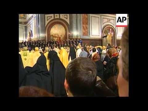 RUSSIA: VLADIMIR PUTIN ATTENDS CHRISTMAS MASS