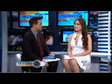 Jenny Blanco en Acceso Total Telemundo - Miami