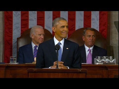 Obama Jabs Republicans In 2015 State of the Union Address