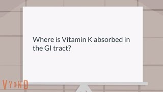 Where is Vitamin K absorbed in the GI tract?