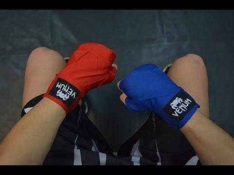 Как намотать боксерские бинты. 2 способа от Юли Фирсовой.