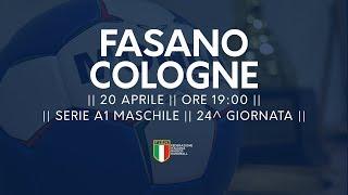 Serie A1M [24^]: Fasano - Cologne 29-25