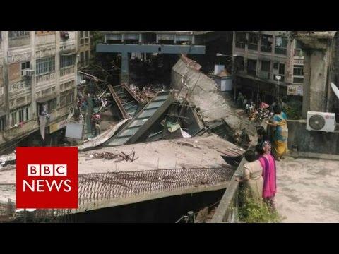 India: Kolkata flyover collapses 'killing at least 10' - BBC News