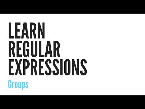 Learn Regular Expressions: Groups