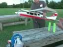 1st RC model plane flight and crash!