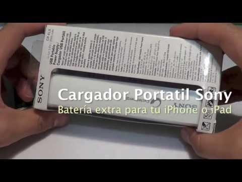 Batería Portátil Sony para iPhone, iPad, iPod Smarphones [Unboxing]