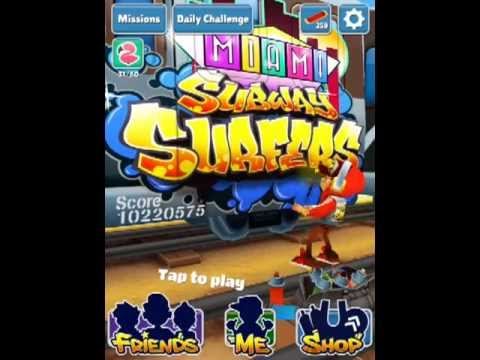 Subway Surfers - invisible hoverboard glitch tutorial - HD