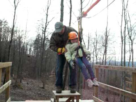 Wears Valley Zip Line, Sevierville TN.   Line 4