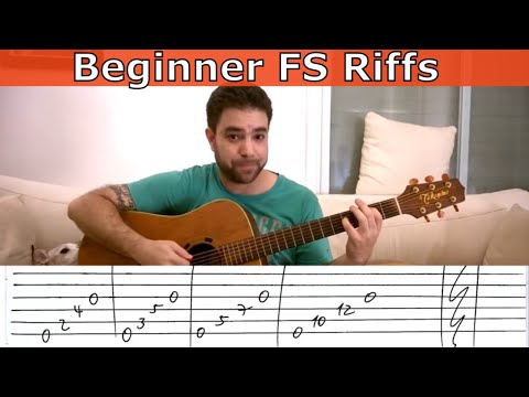 3 Beginner Fingerstyle Riff Exercises - Guitar Lesson Tutorial W/ TAB