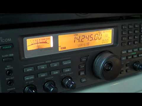 Tuning the 20 meters amateur radio band 1820 UT