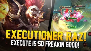EXECUTE IS AMAZING!! Arena of Valor [Road to Conqueror] Raz Gameplay