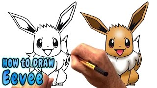 How to Draw Eevee from Pokemon (NARRATED)