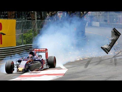 F1 Crash / Max Verstappen & Romain Grosjean / GP Monaco (Onboard)
