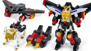 The KingOf Braves GaoGaiGar GaLeon Stealth Liner DvidingDriver Drill SuperMiniPla Toy Transformation