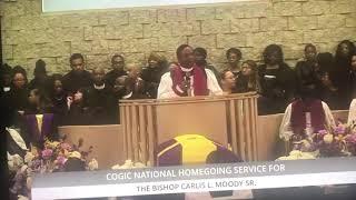 Bishop Thuston at Bishop Carlis Moody's Sr. Homegoing Clip 3- 1/18/19