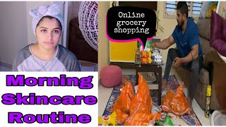 Kannada Vlogs   online Groceries shopping   everyday skincare routine   Huge Grocery stock up