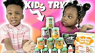 My Crazy Kids TAKEOVER   KIDS TRY BABY FOOD WHILE SLEEPY   TRY NOT TO LAUGH   FUNNY CHALLENGE   ASMR