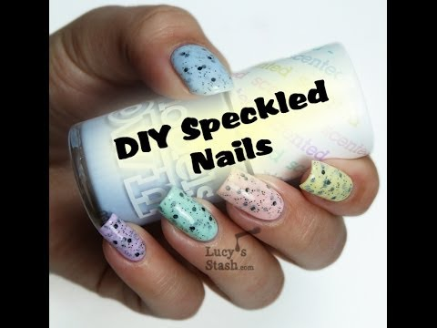 DIY Speckled Nails by Lucy s Stash