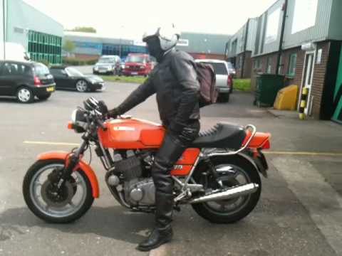 LAVERDA JOTA WITH B2 PRODUCTS FRANK IN UK ON HOLIDAY