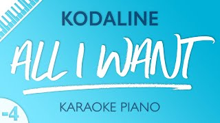 All I Want Lower Piano Karaoke Kodaline