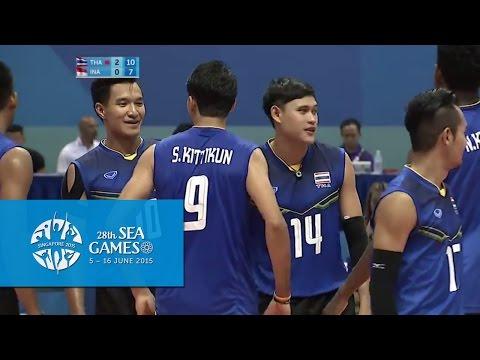 Volleyball Men's Team Semi-Final - THA vs INA | 28th SEA Games Singapore 2015