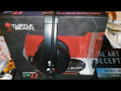 TURTLEBEACH EARFORCE P11 AMPLIFIED STEREO GAMING HEADSET REVIEW AND SETUPS FOR PS3